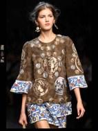 Dolce & Gabbana collection theme roman romanian empire Fashion Week Spring Summer 2014 paris milan london nyc newyork -92