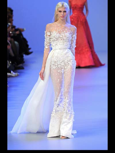 Elie Saab Couture evening Fashion Week 2014 Spring Summer Style.com ...
