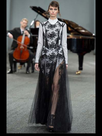 Erdem Fetherston color geometric structure trend forward Couture ...