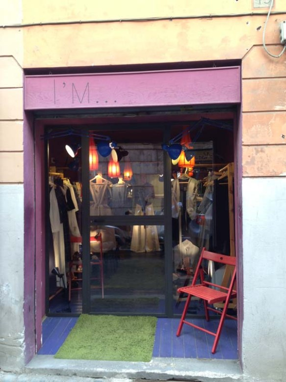 a beautiful entrance of a local italian designer shop i'm