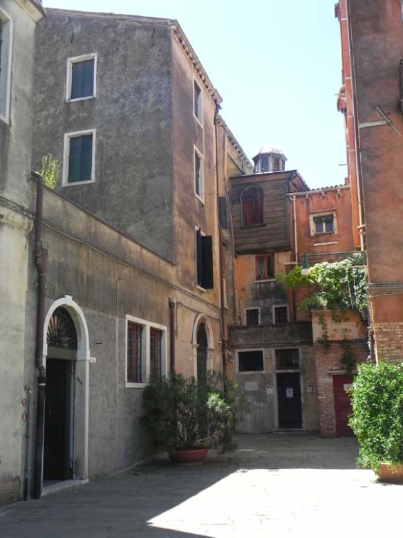 Ghetto Campo Novo jewish district in Venice Italia