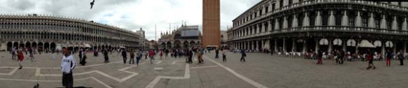 Panoramic view of piazza saint marco
