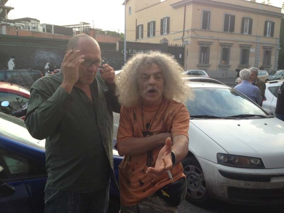 Old hippie roman men at Testaccio