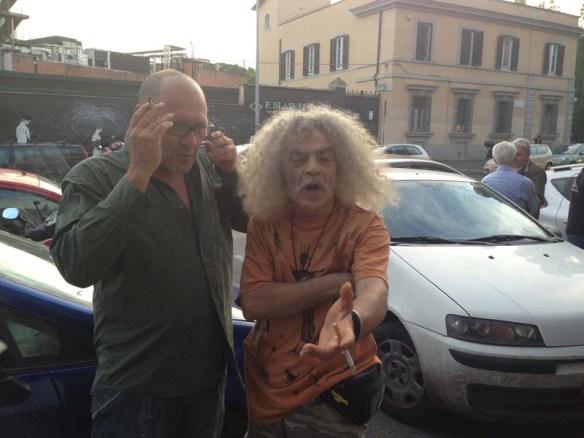 Old hippie roman men at Testaccio