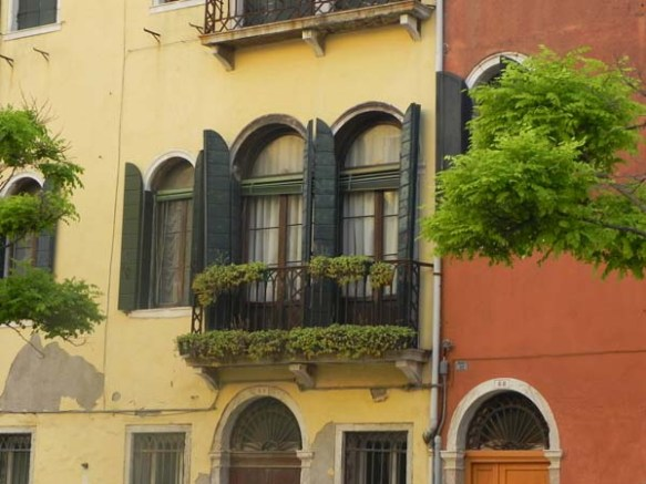 Architecture in venice is breathtaking specially with the beautiful cute little windows and decorations art is in everything garden window