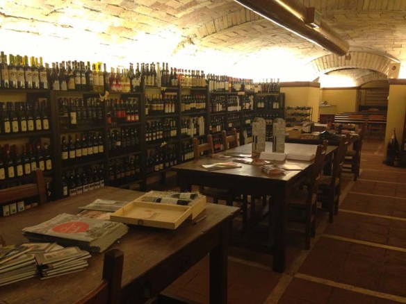 An underground wine library