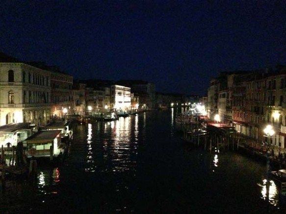 venezia during the night time night lights