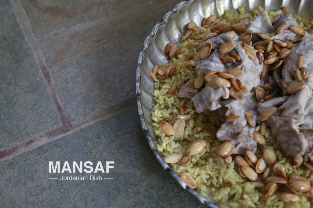 Food art & Styling for a Jordanian dish Mansaf made of Sheep meat rice Jameed and Shrak bread