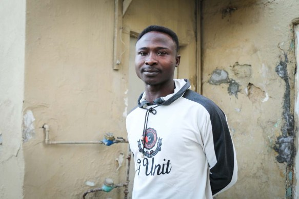 A photograph of an african looking man who is based in Jordan at the webdeh neighborhood