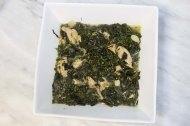 Making Molokhiah middle-eastern dish