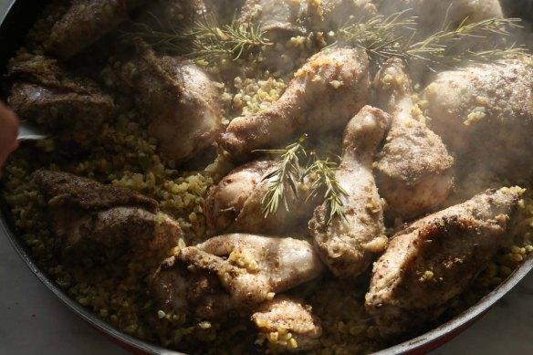 Making Freekeh Middle Eatern Arabian Cuisine raw