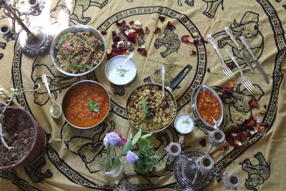 A scene set for freekeh food eating healthy food styling foodart