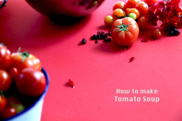 How to make tomato soup ? with food styling and foodart