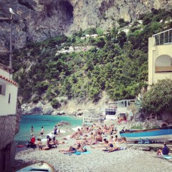Hidden Beach in Capri Italy