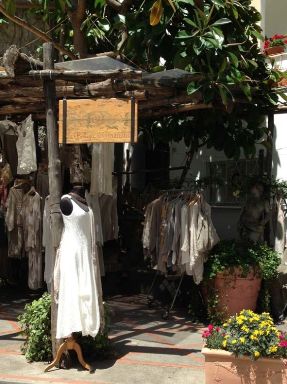 Positano Amalfi Coast Italy Shopping