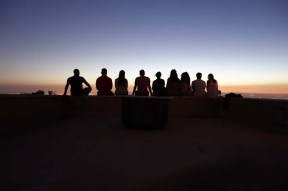 friends by the sunset