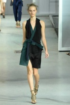 Black and teel dress