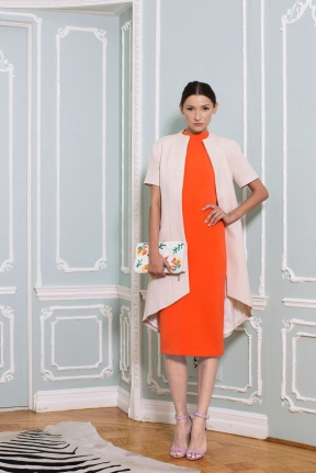 Red dress New York Fashion Week NYFW MBFW Spring Summer 2015