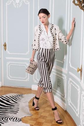 Stripes pants Spring summer 2014 nyfw
