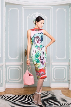 Patterned dress New York Fashion Week Spring Summer 2015