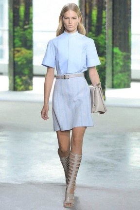 Blue dress New York Fashion Week NYFW MBFW Spring Summer 2015