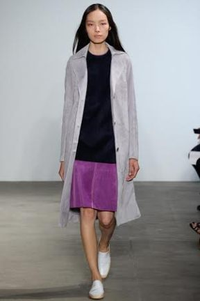 Purple skirt Spring Summer 2015