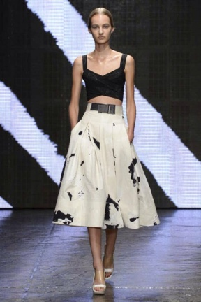 Cropped top and skirt classic chic spring summer 2015