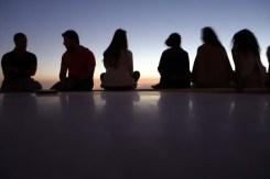 Friends watching Sunset