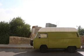 Green mini bus Amman Jordan