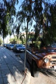 orange range jeep Amman Jordan Street photography