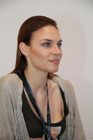 Model from Italy during Mercedes-Benz Fashion Week Amman