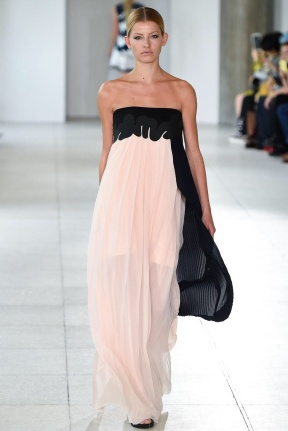 Sheer chiffon organza dress
