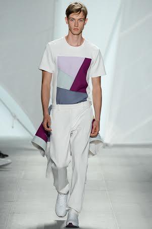 Pattern Tshirt New York Fashion Week Spring Summer 2015