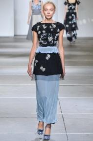 Sheer chiffon organza dress