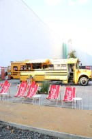 Yellow bus and cola bus