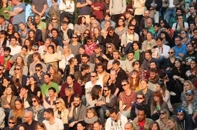 People in the karaoke mauerpark berlin