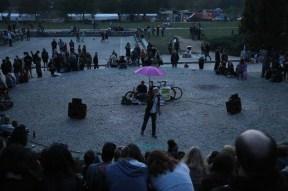 People in the karaoke mauerpark berlin karaoke singing