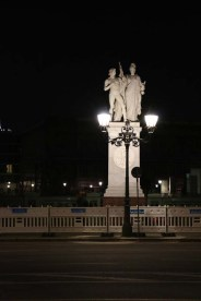 Berlin statue at night