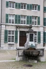 Baroque city Medieval town fountain
