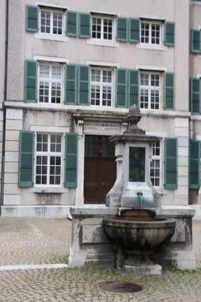 Baroque city Medieval town fountain