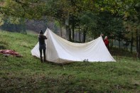 Making tents Tannenheim Oberbalmberg, Solothurn (Switzerland)