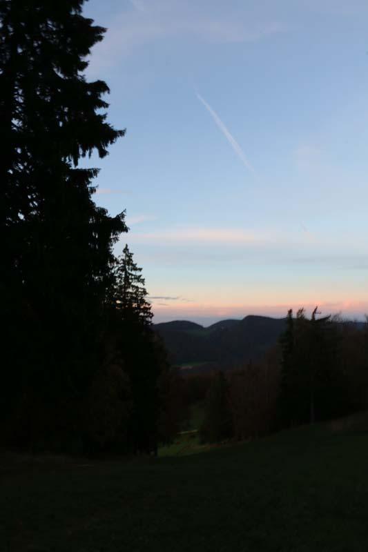 sunset Tannenheim Oberbalmberg, Solothurn (Switzerland)