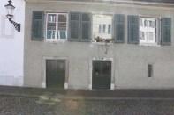 Medieval windows and doors in switzerland