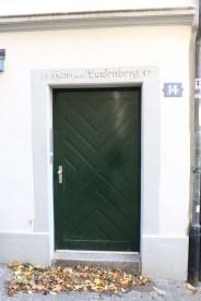 24 hours in Zurich Switzerland Green door