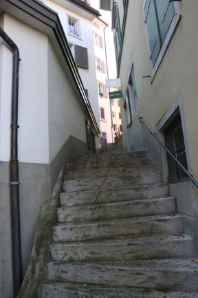 24 hours in Zurich Switzerland vintage stairs