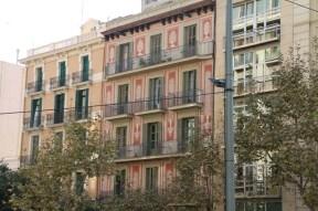 Prints on buildings Barcelona Architecture Spain