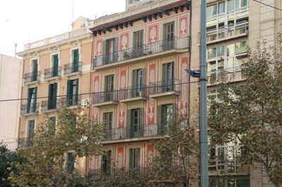 Prints on buildings Barcelona Architecture Spain