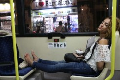 Bus ride Nightlife Barcelona Architecture Spain
