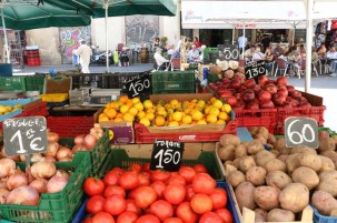 Fruits and vegetable open market