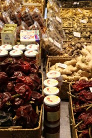 veggies and food market in Barcelona Dried